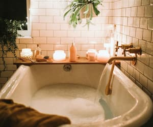 bath, bathroom, and relax image