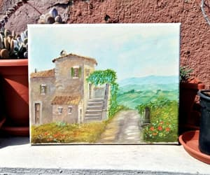 countryside, italy, and painting image