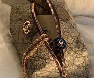 gucci, chanel, and cosmetics image