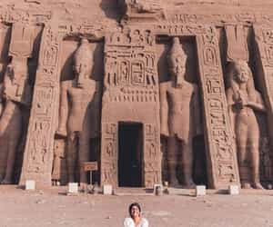 brunette, egypt, and egyptian architecture image