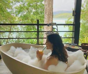 bathtub, vacation, and luxury image