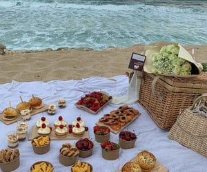 picnic, food, and beach image