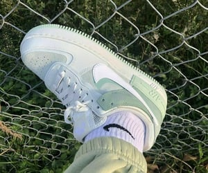 green, nike, and shoes image
