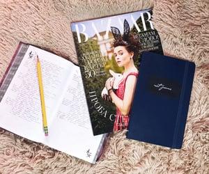 diary, journaling, and moleskine image