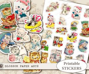 digital collage, planner stickers, and printable stickers image