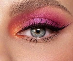 beautiful, eye lashes, and eye shadow image