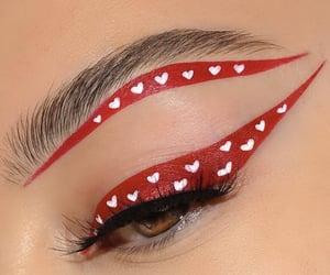 eye makeup, eye shadow, and eyebrows image