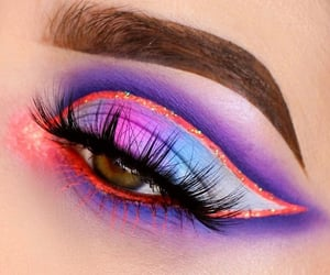 colorful, eyebrows, and eyelashes image
