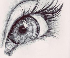 eye, drawing, and eyes image