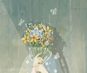 gif, flores, and animado image