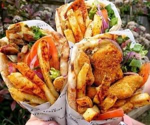 food, potatoes, and wrap image
