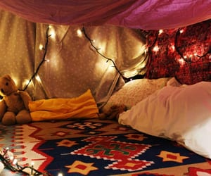 blankets, escape, and lights image