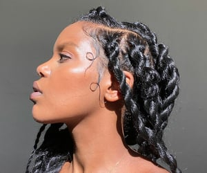 black beauty, hairstyle, and twist image