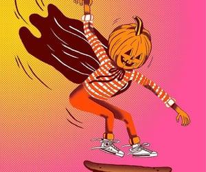 hot pink, orange, and pumpkin image