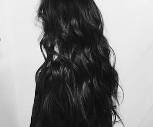 girl, black hair, and aesthetic image