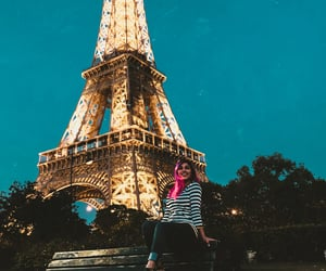 eiffel tower, france, and travel image
