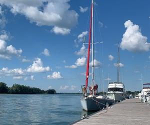 Bleu, blue, and boat image