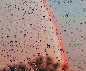 rain and rainbow image