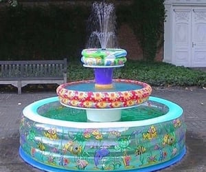 funny, fountain, and pool image