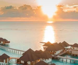 beautiful, blue, and Maldives image