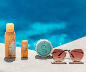 beauty, sun, and sun protection image