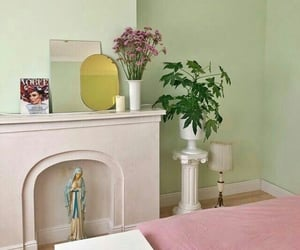 aesthetic, green, and interior image