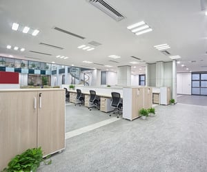 ergonomic office chair, office desks sydney, and reception counters sydney image