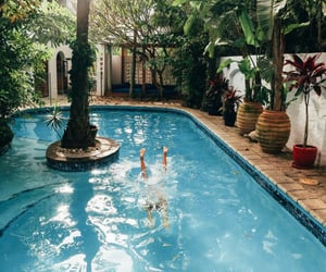 pool, summer, and travel image