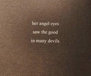 angel, eyes, and Devil image