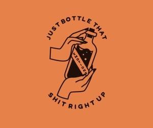 aesthetics, orange, and bottle image