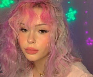 hair, idea, and pink image