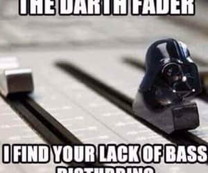 darth vader, music, and funny image