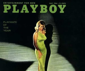 green, magazine, and Playboy image