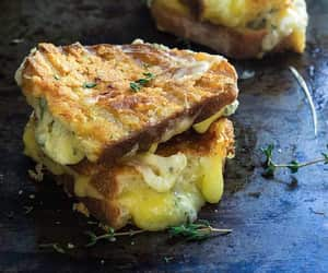 garlic, grilled cheese, and sandwich image