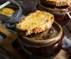 mushroom, french onion soup, and lentil image