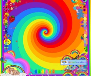 rainbow core, rainbow themes, and hobi core image