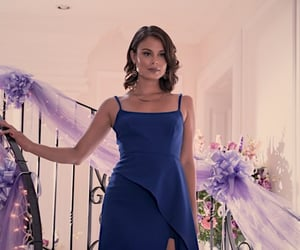 stunning, blue dress, and siren image
