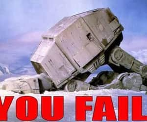 star wars, you fail, and snow walker image