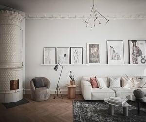 apartment, design, and fireplace image