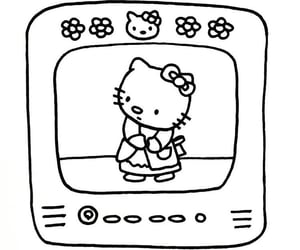 archive, hello kitty, and doodle image
