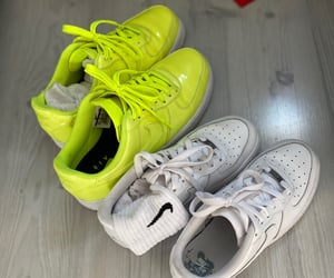 nike, nike air force, and sneakers image