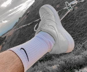nike, nike air force 1, and sneakers image