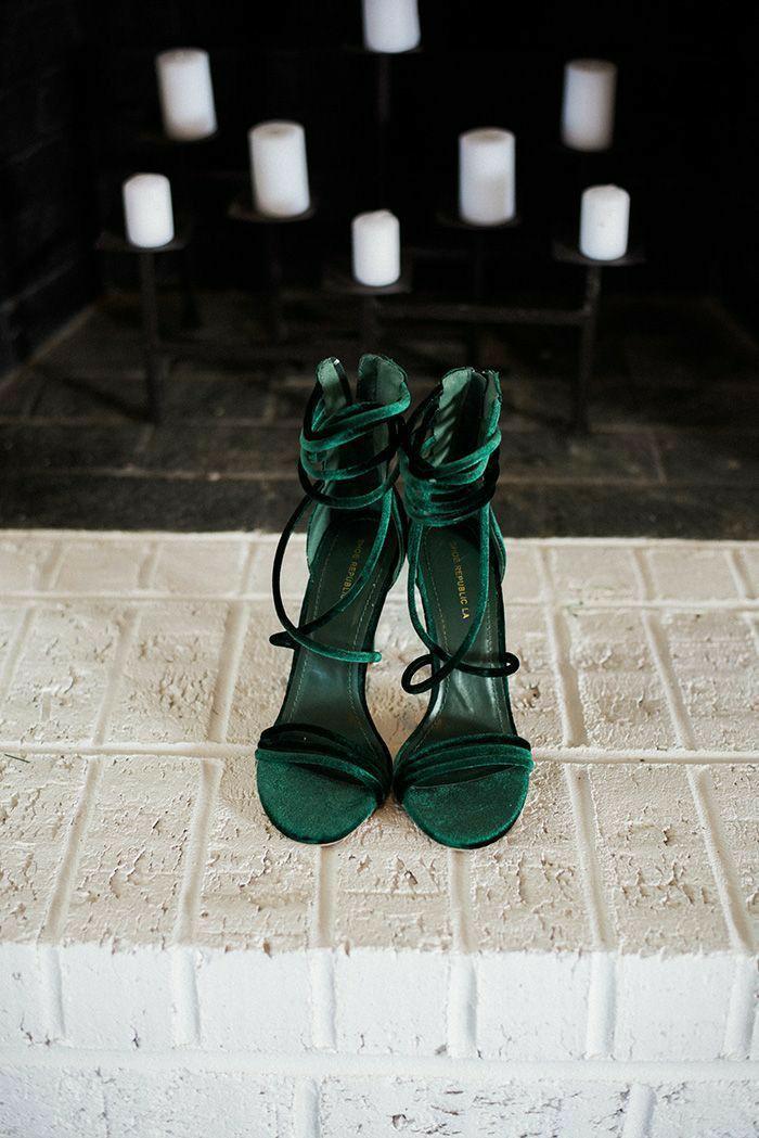 green, heels, and high heels image