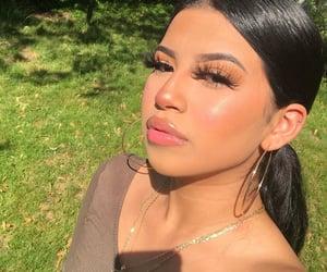 glossy lips, latina, and makeup image