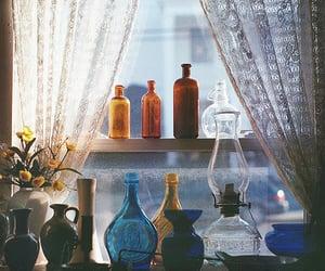 bottle, window, and vintage image