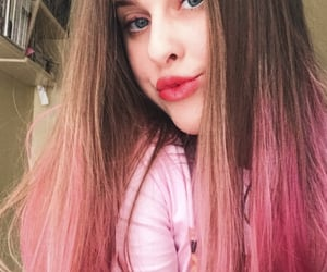 hair, pink, and ombre hair image