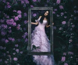 flowers, dress, and purple image