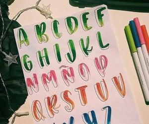 alphabet, crayola, and handlettering image