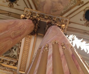 architecture, gold, and pink image
