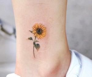 girasol, tattoo, and tatuaje image